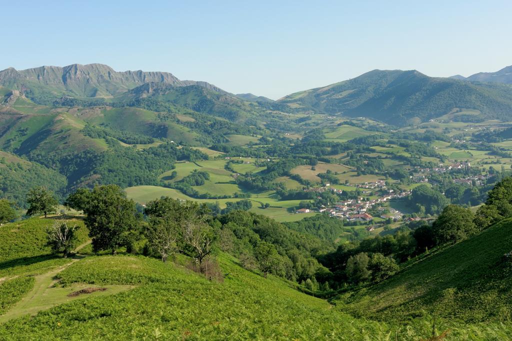 Saint-Etienne-de-Baïgorry vu d'en haut