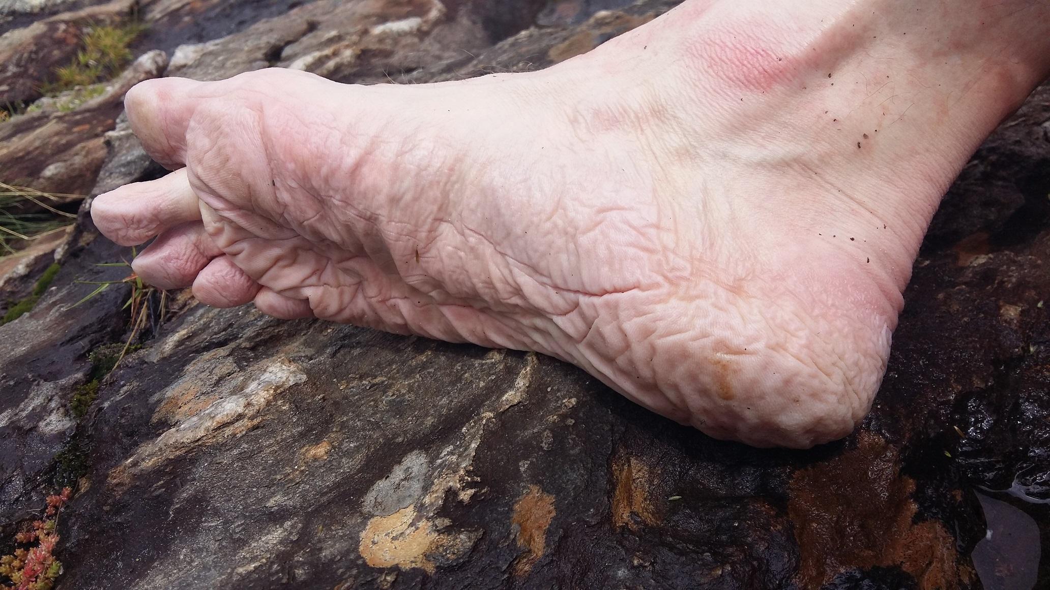 Mes pieds dans les chaussures trempées