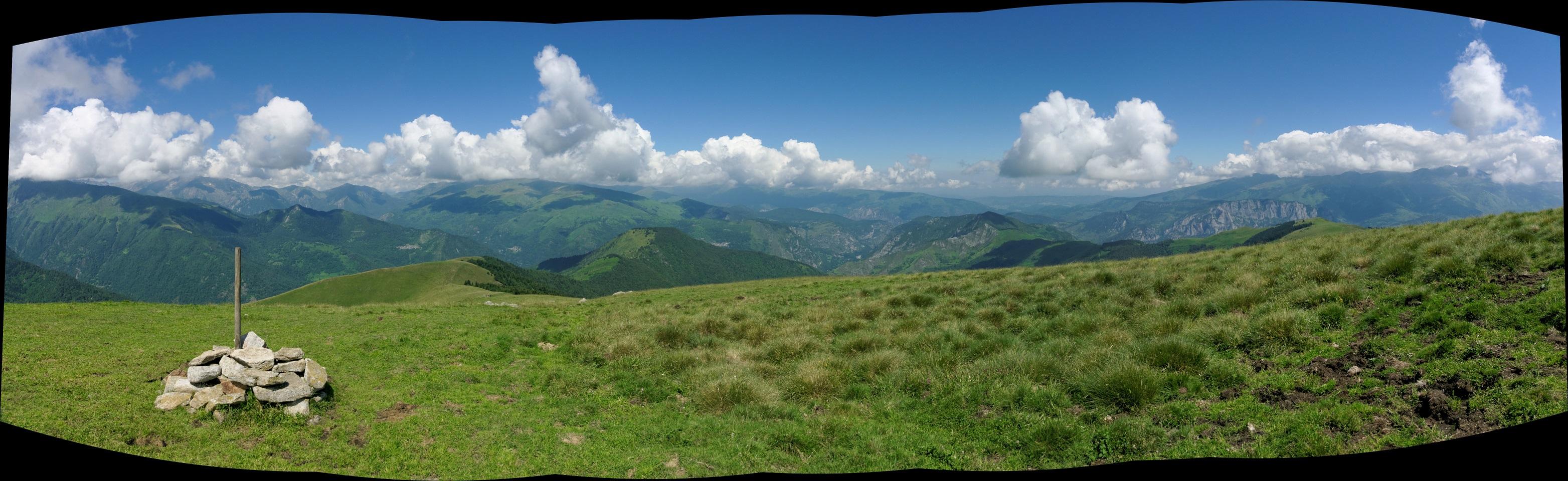 La vue au pla de Montcamp