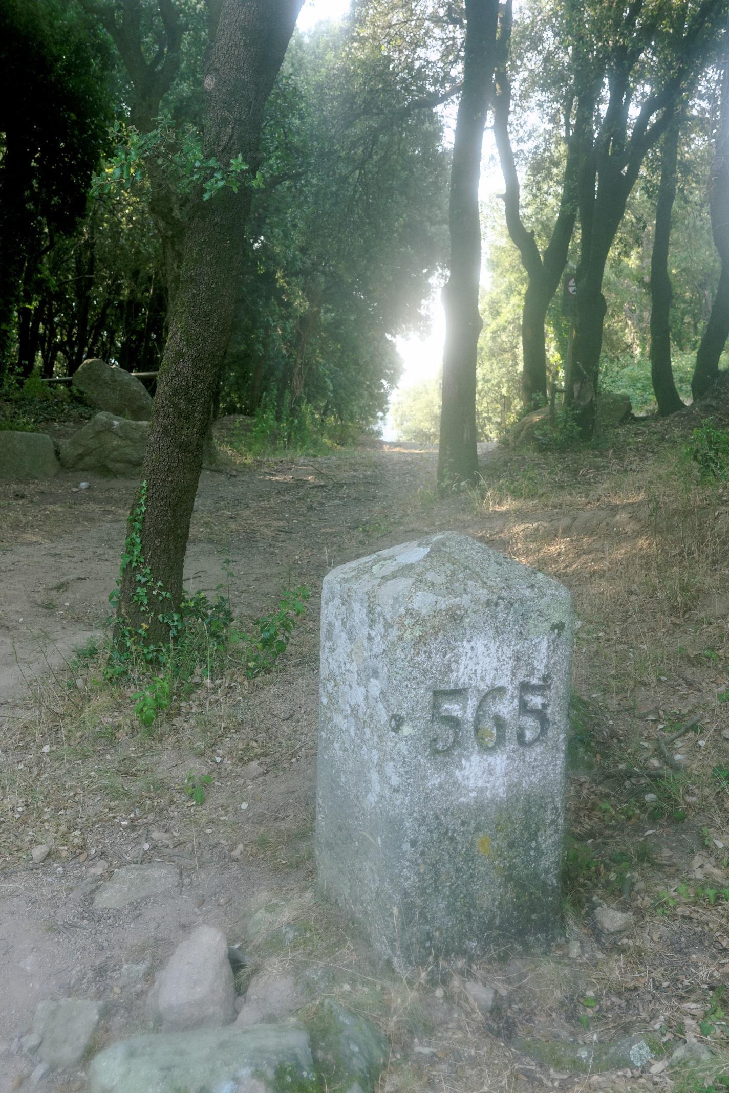 La borne frontière 565 au col del Priorat