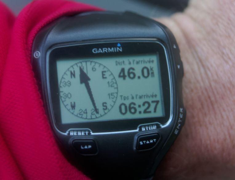 Le GPS au démarrage du dernier jour